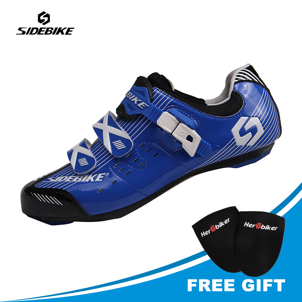 SIDEBIKE Professional Men Cycling Shoes Sport Road Bike Shoes Men Cycling Sneakers Sapatilha Ciclismo Athletic Free Shoes Cover 2017brand sport mesh men running shoes athletic sneakers air breath increased within zapatillas deportivas trainers couple shoes