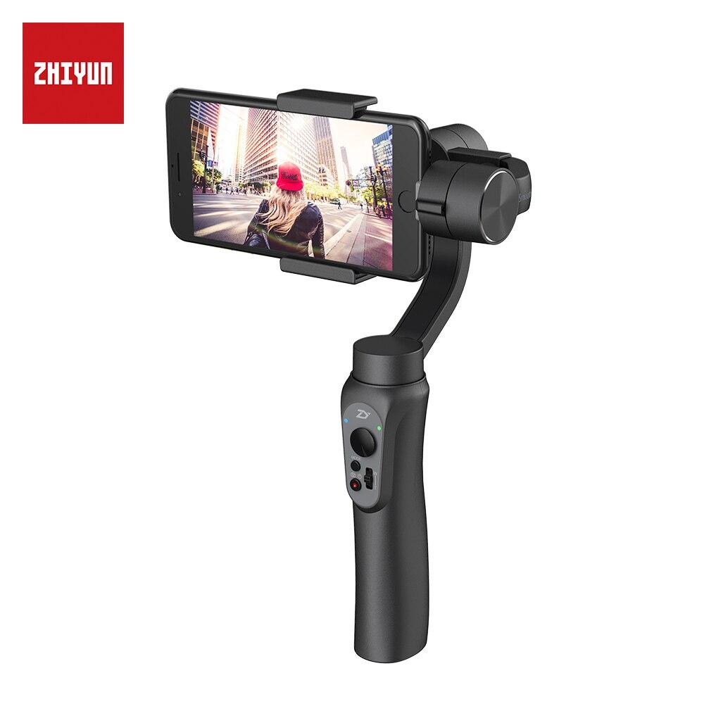 ZHIYUN Oficial Suave Q 3-eixo Cardan Handheld Estabilizador Estabilizador de Telefone para o iphone 8 X para Samsung Huawei Xiaomi
