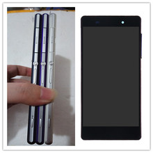 black white purple For SONY Xperia Z2 Display Touch Screen Digitizer with Frame Replacement D6502 D6503 D6543