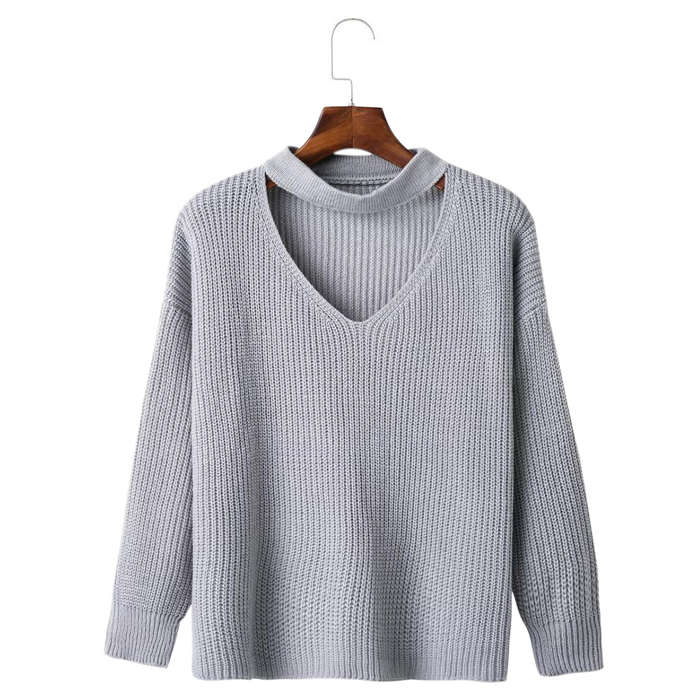 4a855c16ae34 Gamiss Winter Spring Women Sweaters Pullovers Casual Loose Choker ...