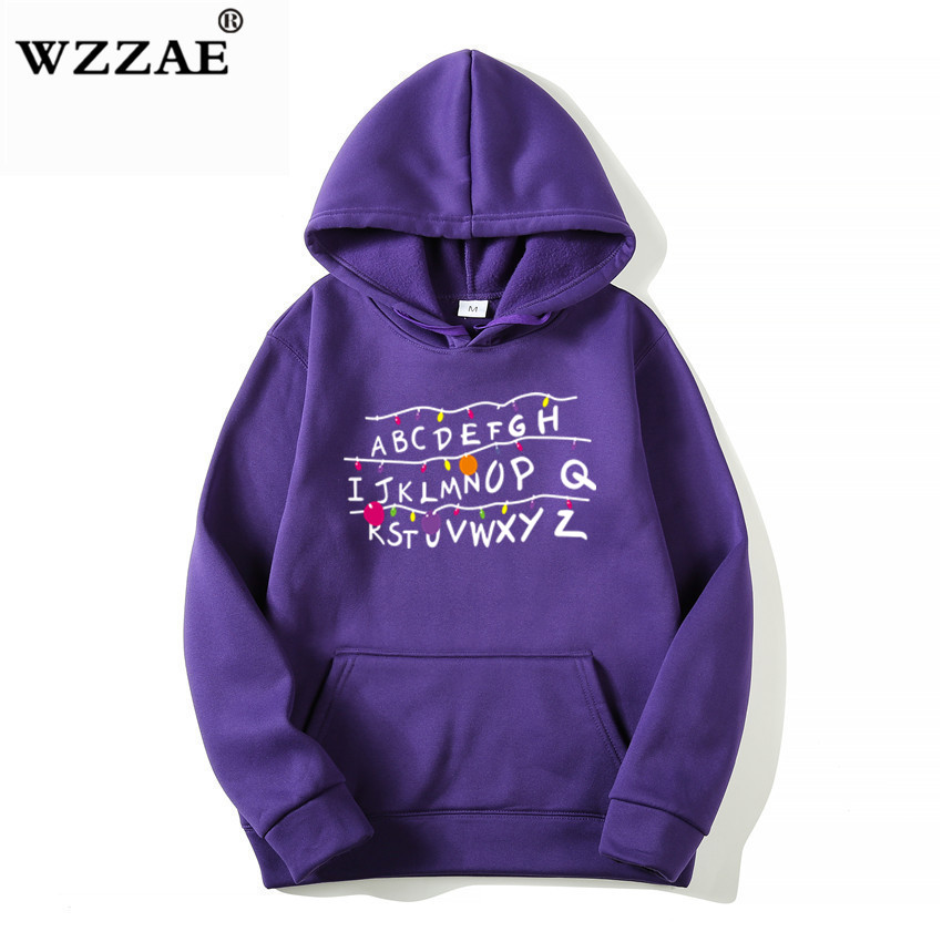 18 Trendy Faces Stranger Things Hooded Mens Hoodies and Sweatshirts Oversized for Autumn with Hip Hop Winter Hoodies Men Brand 6