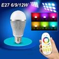 AC85-265V 2.4G Wireless LED bulb E27 E14 GU10 RGBW RGB Dimmable led Bulb Lamp spot light & 4-zone RF Remote controller MILIGHT