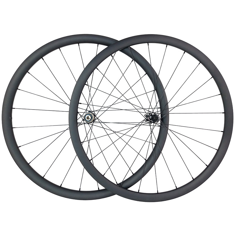 1380g 700c 30mm asymmetric tubeless road disc straight pull carbon wheels center lock 25mm wide UD