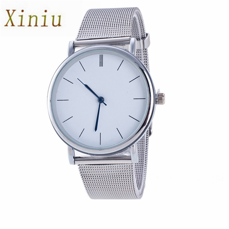 Watch For Women Ladies Silver Stainless Steel Mesh Band Wrist Watch Mens Watches Brand Geneva Watch Reloj Hombre Montre Femme  high quality women s watch women ladies silver stainless steel mesh band wrist watch top gifts dropshipping m18