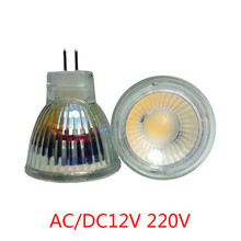 Super Bright 3W 5W Mini MR11 COB LED Bulb 220V 35mm Led Spotlights AC DC 12V LED bulb lamp Warm/Nature/Cold White Home lighting(China)