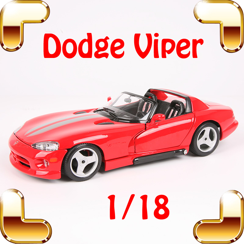 Christmas Gift Viper 1/18 Model Metal Car Collectible Toys Model Scales Desk Decoration Alloy Diecast Luxury Present Family Toy viper 1 mgd