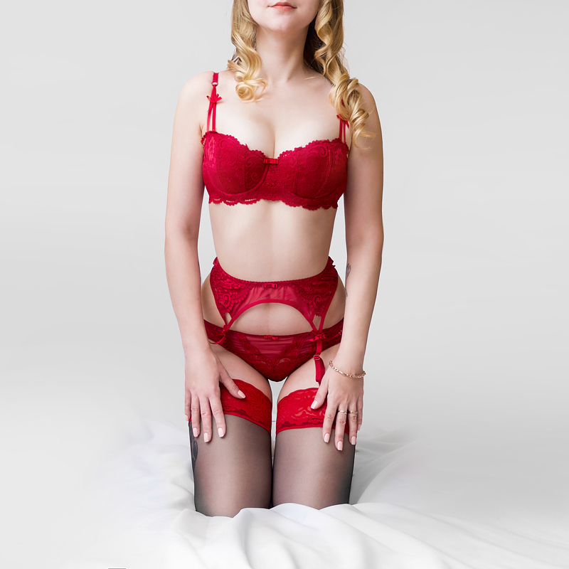 8146c5834550c Garter+Bra+Panties belt set lace Suspenders underwear set women bra    briefs set thin cup intimates women s lingerie 11953