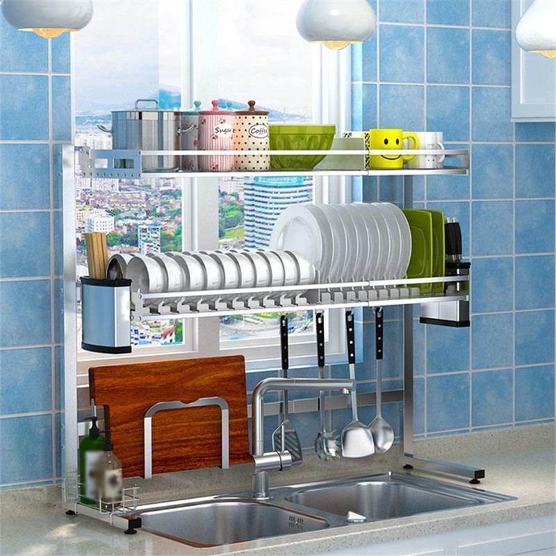 Organization Etagere Cucina Refrigerator Organizer Rangement Stainless Steel Cuisine Cozinha Mutfak Kitchen Storage Rack Holder