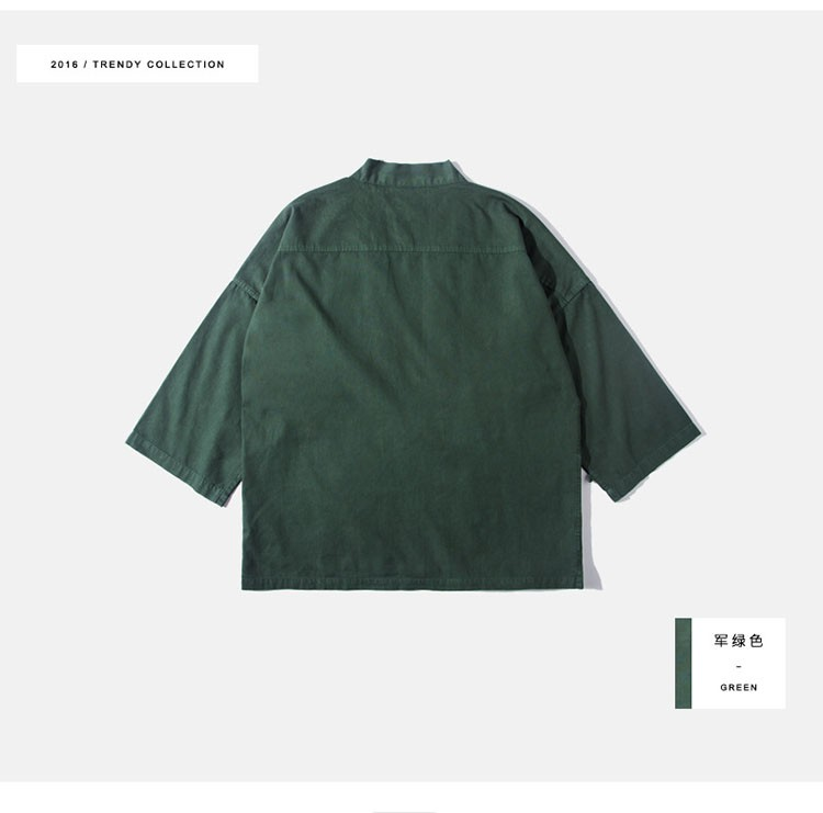 Kimono jacket mens japanese clothing fashion design harajuku street wear casual japan style outwear kanye west kimonos jackets (8)