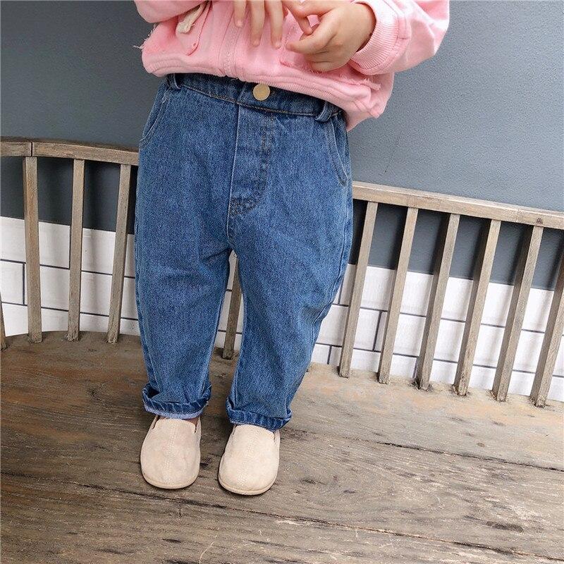 Rispettoso Pantaloni Di Colore Solido Pantaloni Di Modo Delle Ragazze Dei Jeans Dei Bambini Dei Bambini Del Bambino Dei Jeans Dei Bambini Di Modo Dei Jeans Del Bambino Del Denim Del Bambino Dei Vestiti Una Gamma Completa Di Specifiche