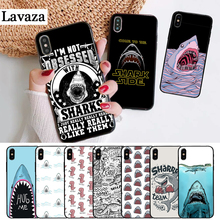 Lavaza Ocean Sharks cartoon pattern Silicone Case for iPhone 5 5S 6 6S Plus 7 8 11 Pro X XS Max XR lavaza cartoon mickey mouse couple silicone case for iphone 5 5s 6 6s plus 7 8 11 pro x xs max xr