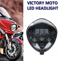 1x Motorcycle LED Headlight Headlamp For Victory Cross Country Cross Road Models