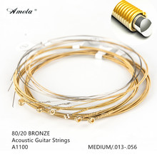 Amola A1100 Acoustic Guitar Strings  Bronze with  Coating  Medium  013-056 Wound Guitar Strings Musical Instruments 1 Sets