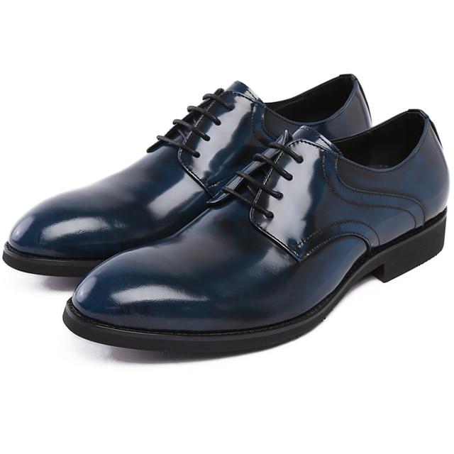 2015 British Style Luxury Navy Blue Men Platform Shoes Fashion ...