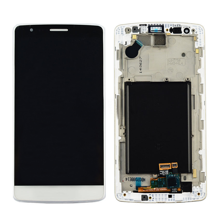 +Frame white LCD Display + Touch Screen Digitizer Assembly Replacement For LG G3 Mini D722 D724 D728 Shipping