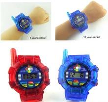 Children's Radio Radio Spy Wrist Watch Walkie Talkie Kids Electronics Gadget Toys Two Way Radio Red Blue