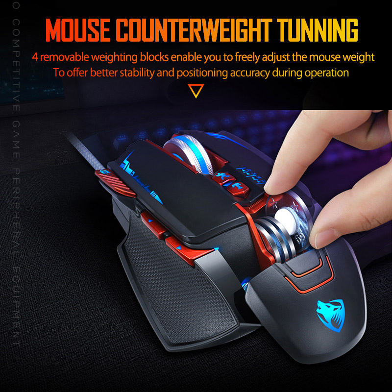 Image 5 - NEW V9 USB Wired Programmable Gaming Mouse 3200DPI Adjustable Backlight 8 Custom Button Mechanical Gaming Mice for Pro Gamer/LOLMice   - AliExpress