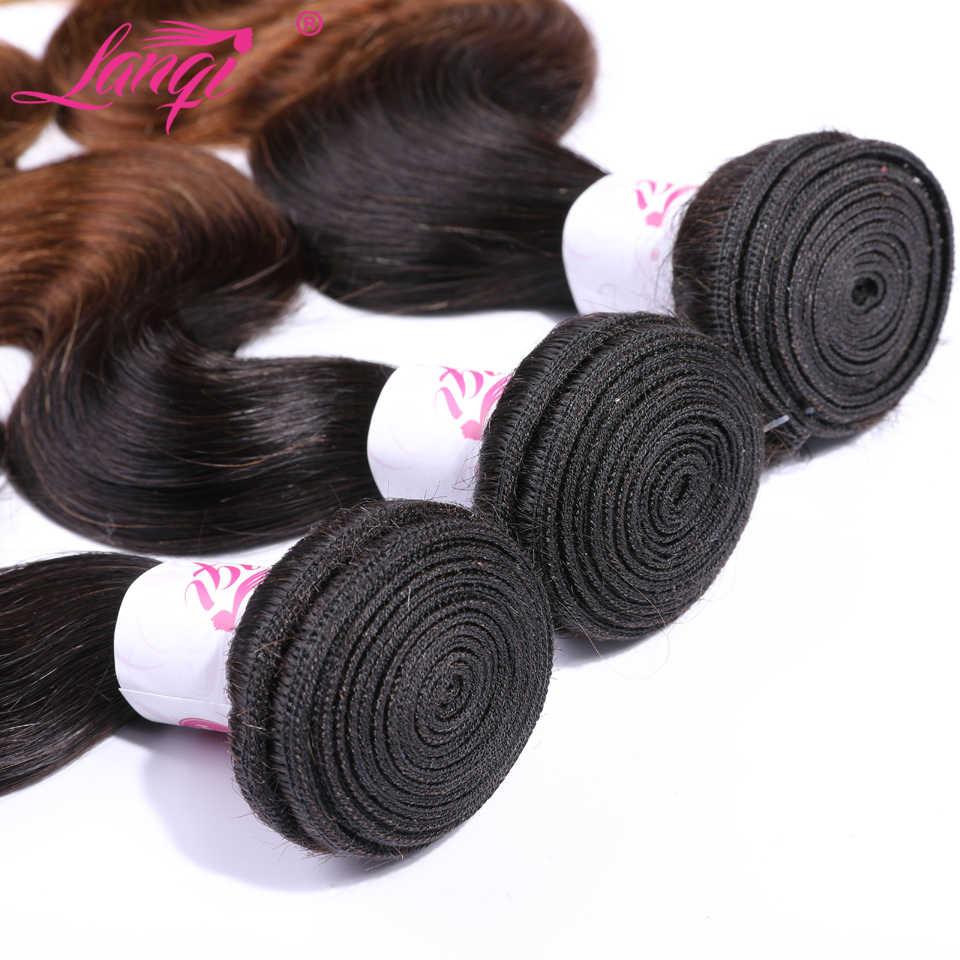 Körper Welle Ombre Bundles Mit Verschluss 1b/4/27 Brasilianische haarwebart bundles nicht remy Menschenhaar honig blonde bundles Mit Verschluss