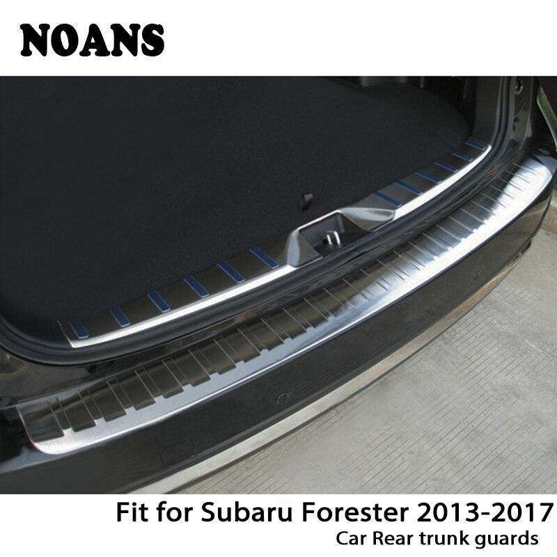 NOANS Para Subaru Forester 2013-2017 Auto Tronco Traseira Do Carro Tiras Adesivos para Portas Anti Scratch Acessórios Em Aço Inoxidável