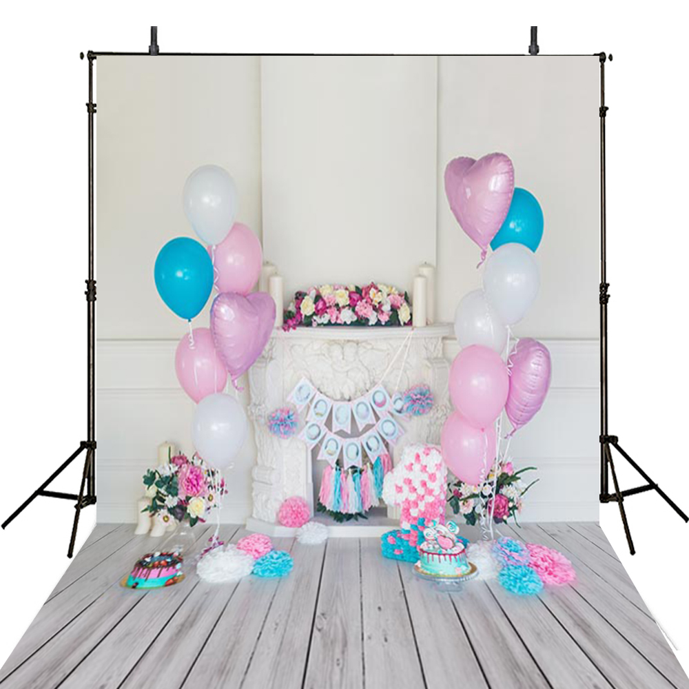 Hot Balloons Party Photography Backdrops Wooden Backdrop