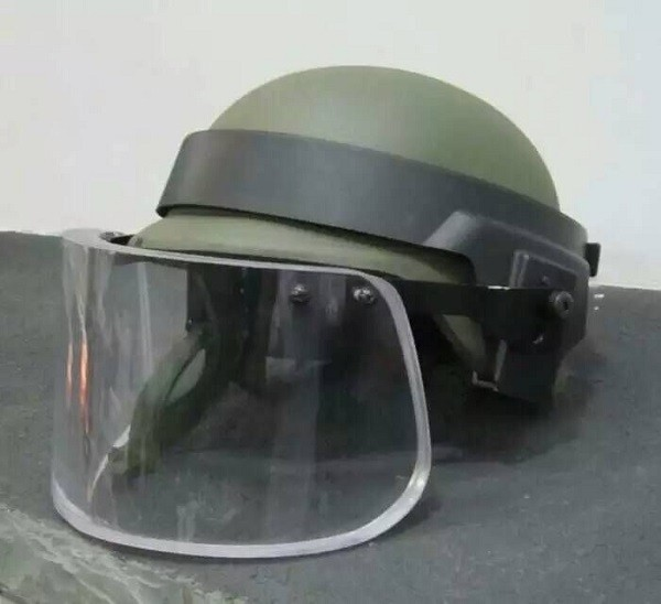 Bullet Proof Glass Ballistic Face Shield Military tatico Anti Riot Face Shield