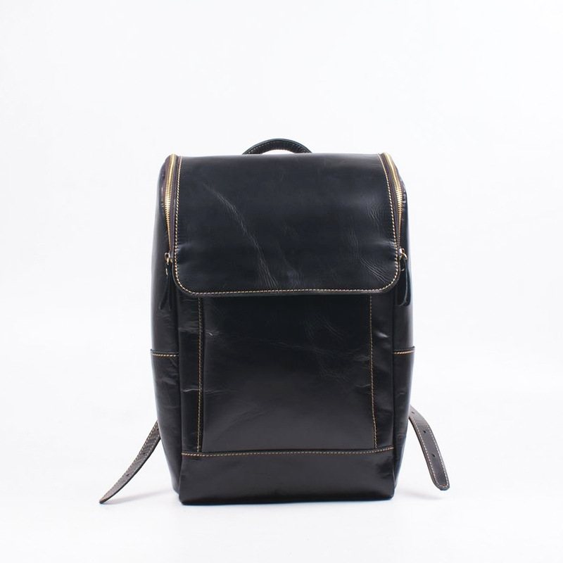 2017 New Korean Genuine Leather Men Bag & Women Bag Students Shoulder Bag Fashion Travel Backpack Bags 2017 new korean man pu leather backpack male new style junior middle school students leisure travel backpack fashion bag