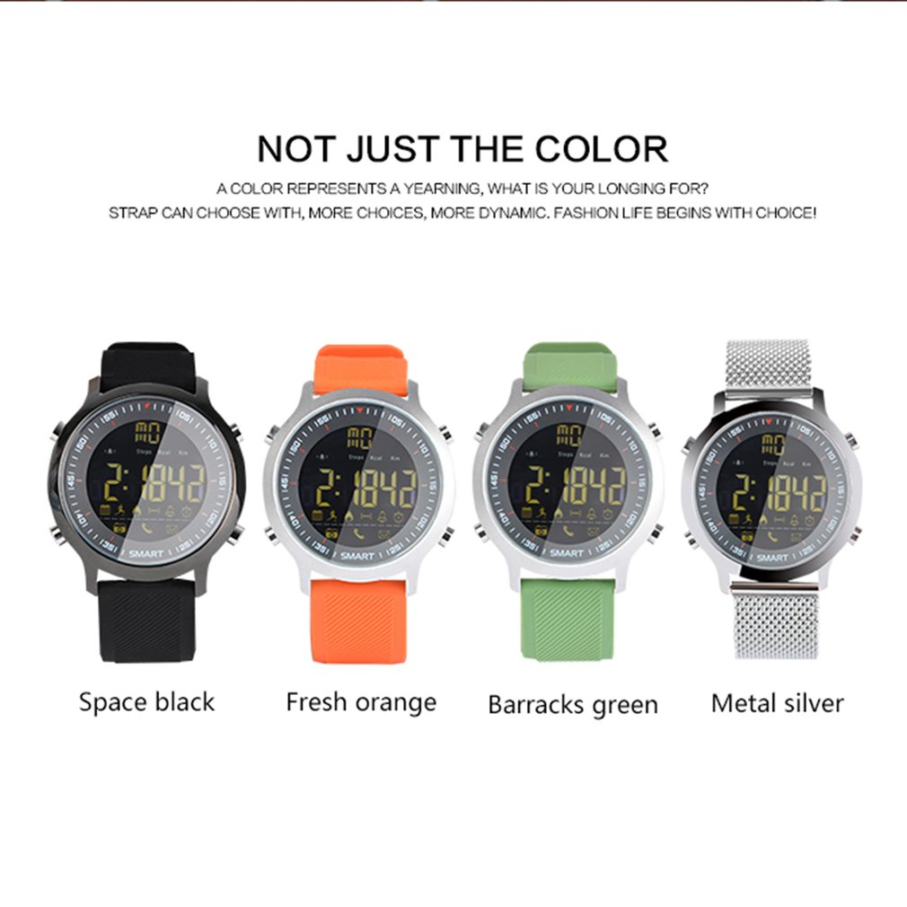 2019 New <font><b>Smart</b></font> <font><b>Watch</b></font> <font><b>EX18</b></font> Sport Waterproof Pedometers Message Reminder Bluetooth Smartwatch For IOS Android Phone image
