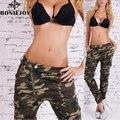 Militares Pantalones de Camuflaje Pantalones de Camuflaje de Carga de Las Mujeres de La Manera Delgada de Algodón de Moda Pantalones Pantalones Cargo Femenina Guerra