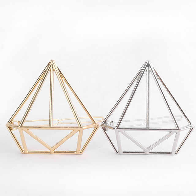 Gold/Silver Geometry Hairpins
