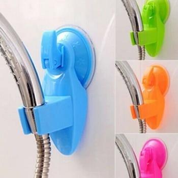De calidad superior de la succión de la Copa ducha en el cuarto de baño soporte de almacenamiento de cocina hogareña RP escoba organizador Rack 6 Color