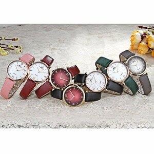 Image 5 - IBSO/BOERNI AIBISINO relojes ultrafinos de cuarzo para mujer, resistente al agua, con correa de cuero, B2210L