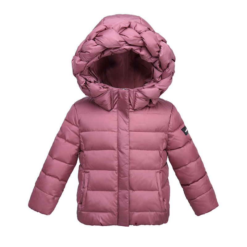 WENDYWU 2017 Winter children's princesss down jacket girl Hooded down waterproof jacket multi-color cotton coat free shipping