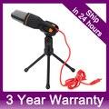 3.5 mm Stereo profissional condensador de estúdio de gravação de som com microfone para Skype pc, Jogo, Canto