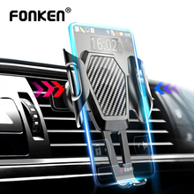 FONKEN Car Holder Air vent Mount Anti-shake Memory Phone Stands for in Big Mobile Cell GPS Bracket Flexible Socket