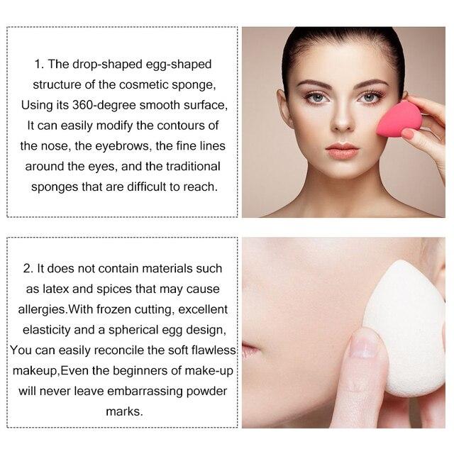 7 Colors Makeup Sponge Puff Cosmetic Water Drop Shape Blending Face Foundation Powder Beauty Makeup Sponge Puff Cosmetic Tool 4