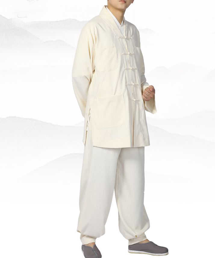 UNISEX Summer&Spring Buddhist zen monk suits shaolin monks costume kung fu  clothing zen lay meditation uniforms red/blue