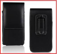 Black Holster Leather Phone Case Belt Clip Flip Pouch Case For Highscreen Easy F Pure Power