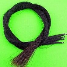 5 hanks violin viola cello Mongolia natural black bow hair horse tail 80-85 cm