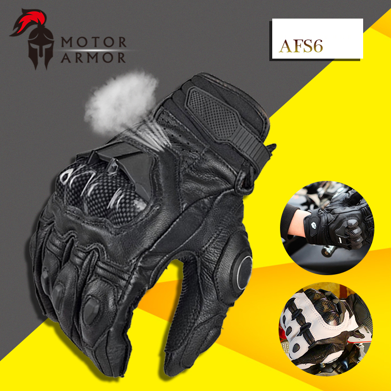 Furygan Summer Breathable AFS6 Motorcycle Gloves Racing Leather Guantes Carbon Fiber Knukle Protection Black and White for Men nike nike fuelband sports bracelet battery cover green m