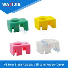 5PCS/Lot V6 Heat Block Cover Adiabatic Silicone Case 3D Printer Parts High Temperature Protective Insulation Rubber Sheaths