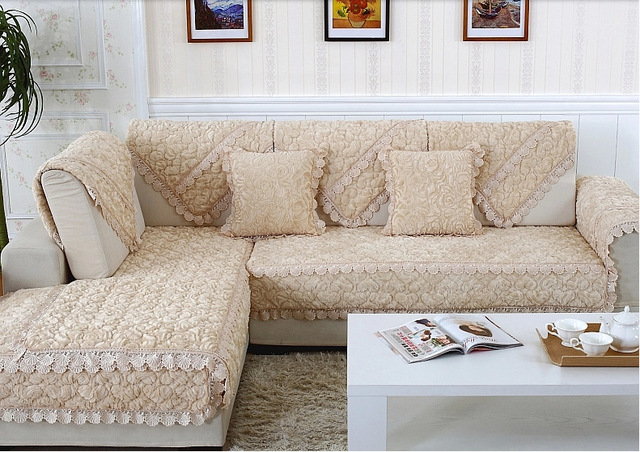 Hot Velvet Fabric Sofa Covers Pink Beige Decorative Cushion Slipcover Whole Factory Direct