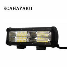 ECAHAYAKU 1 pcs 9 Inch 144W Led Work Light Bar 3-Row for Car 4x4 Offroad SUV UAZ ATV Working Fog Lights Headlight 12v 24v Barra