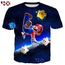 3df53cf54 HX New 3D Impressão Jogos de Vídeo Super Mario Bros Estilo Harajuku Tees  Homens Mulheres Camiseta