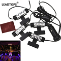 4x 3LED Car Charge 12V 4W Pathway Lighting Glow Interior Decorative 4in1 Atmosphere Blue Light Lamp Atmosphere Inside Foot BJ
