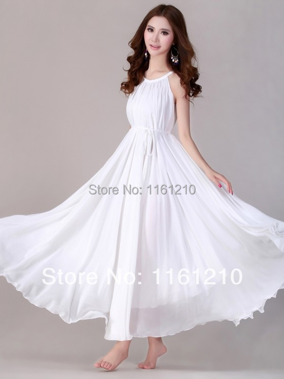 White Summer Holiday Beach Dress Beach Wedding Party Guest Sundress ...
