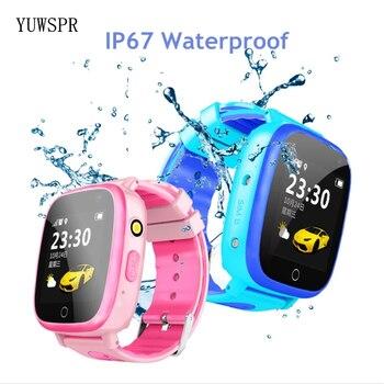"Kids GPS tracker watch waterproof IP67 1.44"" touch screen flashlight camera GPS LBS Location Children smart clock Q11 1pcs"
