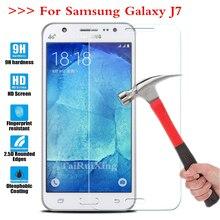 Экран протектор Плёнки 0.3 мм 9 H 25d Передняя Премиум Закаленное Стекло для Samsung Galaxy J7 sm-j700 sm-j700f 5.5