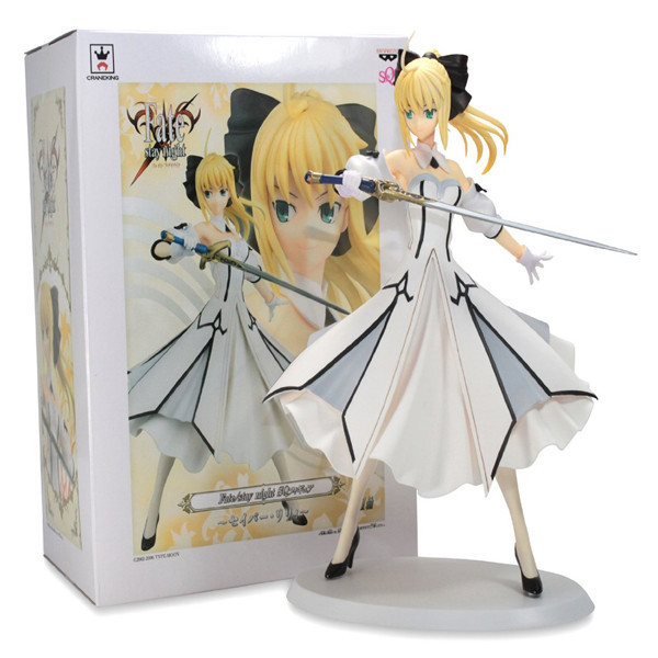 Anime Fate / Stay Night Saber Lily Girl PVC Action Figure Resin Collection Model Toy Gifts Cosplay anime fate stay night coin wallet cosplay men women bifold purse