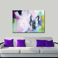 2019 100% Handmade Simple Abstract Oil painting Modern Wall art Picture Paint on Canvas No Frame