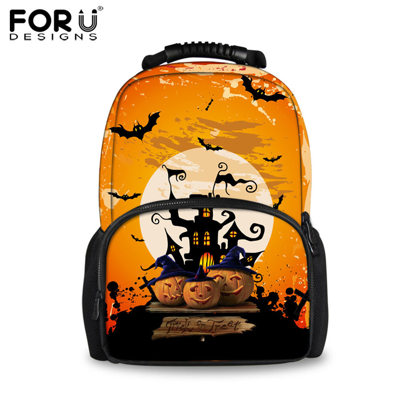 FORUDESIGNS 2018 Newest 3D Printing Backpacks for Women Funny Halloween Lady Felt Backpack Travel Laptop School Bagpack Mochilas forudesigns 3d animal printing backpacks for men crazy horse dinosaur school backpack for teenager boys man kids travel bagpack